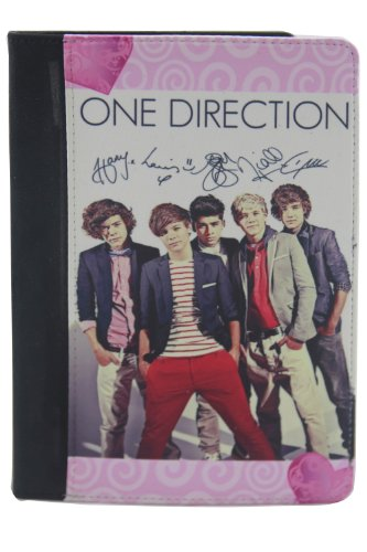 Lowest Prices! One Direction iPad Mini Leather Case with Stand, Autographed, Pink and Black
