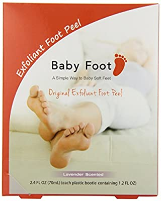 Baby Foot Original Deep Exfoliation for Feet Peel - Lavender Scented - 1 Pack (2 Booties - 1.2 FL OZ Each) A Simple Way to Baby Soft Feet