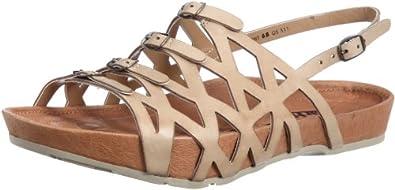 Earth Elegant Open Toe Shoes Beige Womens