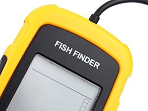 Portable Wired Fish Finder LCD Display Sonar Sensor Fishfinder Alarm Transducer Fishfinder by Venterior