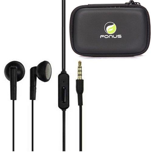 Oem Motorola 3.5Mm Stereo Headset Handsfree Earphone Earbuds With Mic Black + Carrying Case For Motorola Droid Razr, Electrify 2, Xprt, Motorola Triumph