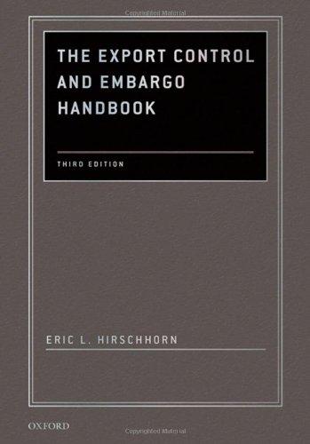The Export Control And Embargo Handbook