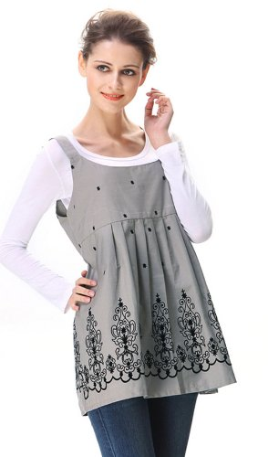 Anti-Radiation Maternity Clothes, Dress 8900806 Grey/Black,Protect You and Your Baby!