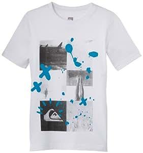 Quiksilver Basic T-Shirt manches courtes garçon Blanc FR : 14 ans (Taille Fabricant : T14)