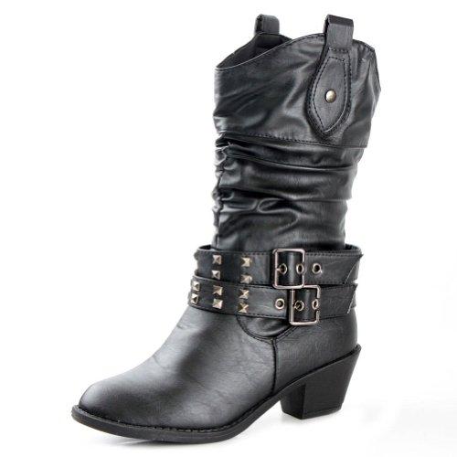 West Blvd Womens Paris Cowboy Boots