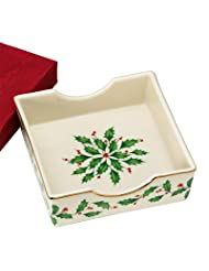 Lenox Holiday Napkin Holder with Napkins by Lenox