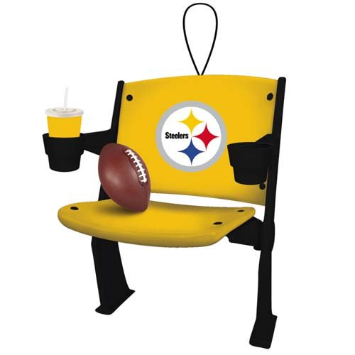 Pittsburgh Steelers Official NFL 4 inch x 3 inch Stadium Seat Ornament from SteelerMania