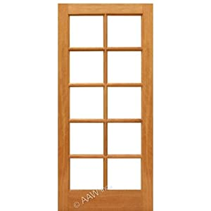 French Door Mahogany 10 Lite Ext Aaw Doors Inc