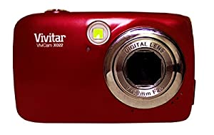 Compact Digital Camera Vivitar X022 10MP (10 Megapixel, 4x Zoom) (Red)