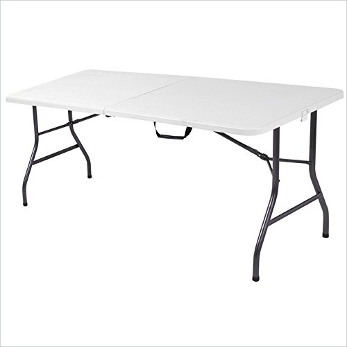 Cosco 6 Foot White Center Fold Table front-1080545