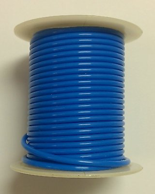 Blue 24Awg Stranded 600V, Teflon® Insulated Hook Up Wire - 100' Roll