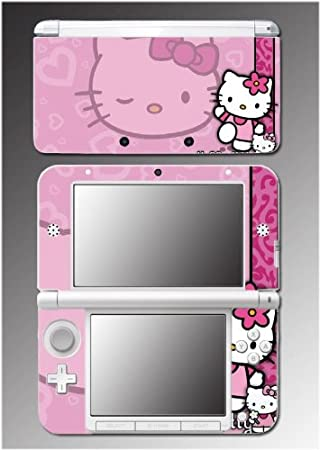 Cute Kitty Pink Hearts Princess Dress Pretty Girl Video Game Vinyl Decal Cover Skin Protector #2 Nintendo 3DS XL