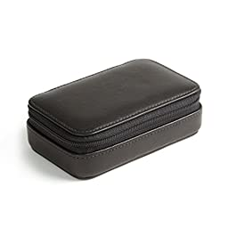 Small Zip Case - Full Grain Leather - Black Onyx (black)