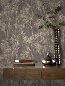 Rasch Deco Chic Wallpaper - Chocolate by New A-Brend