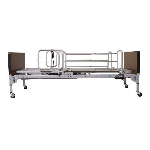 Patriot Us0208-Pkg Semi Electric Bed With 1633 Innerspring Mattress And Full Rails 1 Each, Ss & Brown,