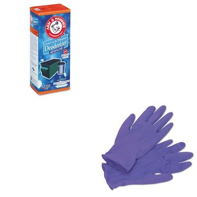 Kitchu3320084116Kim55082 - Value Kit - Arm And Hammer Trash Can Amp;Amp; Dumpster Deodorizer (Chu3320084116) And Kimberly Clark Purple Nitrile Exam Gloves (Kim55082) front-384763