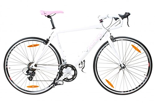 28-Damenrennrad-Viking-Elysee-Sti-2-Farben-FarbeweisspinkRahmengrsse56-cm