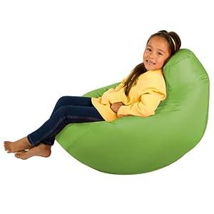 Kids Hi-BagZ - Kids Bean Bag Gaming Chair - Childrens Beanbag (Water Resistant) LIME GREEN by Hi-BagZ