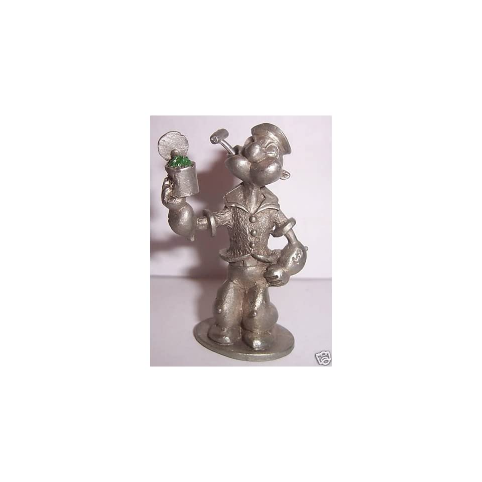 Spoontiques Pewter Popeye The Sailor Figurine Spinach on
