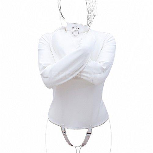 Leather Straitjacket Costume Women Men Bondage Fancy Dress Restriants (Women Straitjacket)