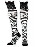 Blazin` Roxx Womens Print Boot Socks L Zebra