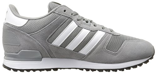 Adidas Originals Men's ZX 700 Fashion Sneaker, Solid Grey/White/Black, 10.5 M US