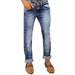 Hasasi Denim Men's Regular Fit Jeans - IBU3405-Jeans-Blue-30