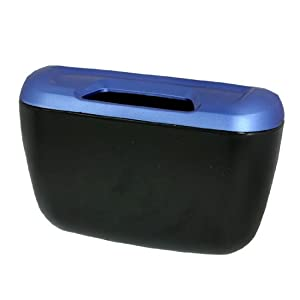 uxcell car interior adhesive trash bin dustbin junk container blue black automotive. Black Bedroom Furniture Sets. Home Design Ideas