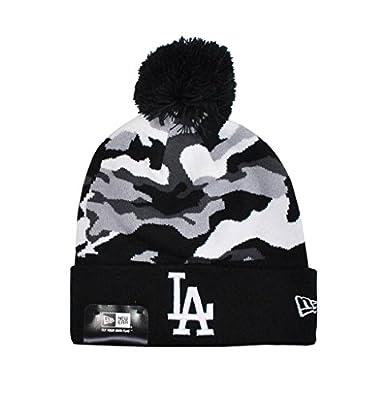 New Era Los Angeles Dodgers Knit Beanie Black/white Camo One Size
