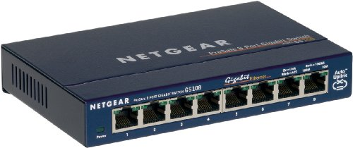 Netgear GS108 GE 8-Port Gigabit-Kupfer-Switch, Lüfterlos