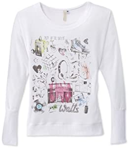 Watts Noode T-Shirt manches longues fille Blanc FR : 8 ans (Taille Fabricant : 8 ans)