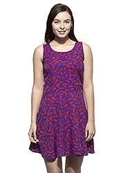 Printed Poly Crepe Dress