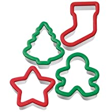 Wilton Holiday Grippy Cookie Cutters Set Of 4