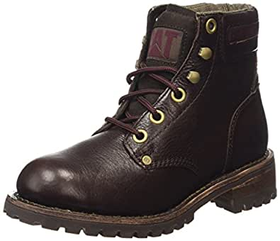 .com: Caterpillar Women's Sequoia Lace Up Leather Work Boots: Shoes