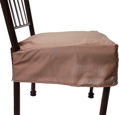 Everyday Elegance Kitchen & Dining Chair Covers (Creamy Brown (tan))