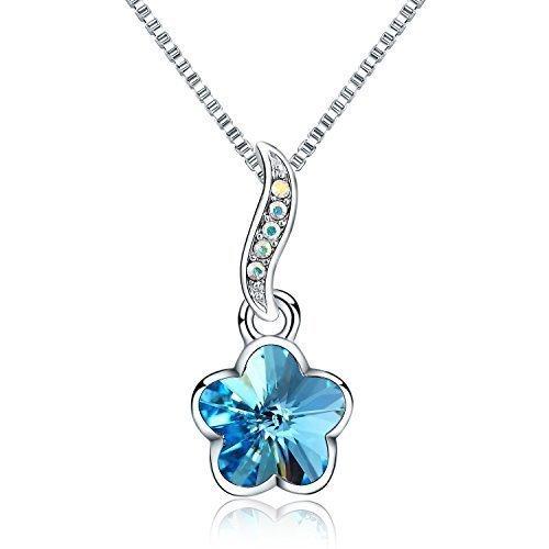 collar-con-colgante-de-mujer-18-forma-de-flor-swarovski-cristal-chapado-de-rodio-azul