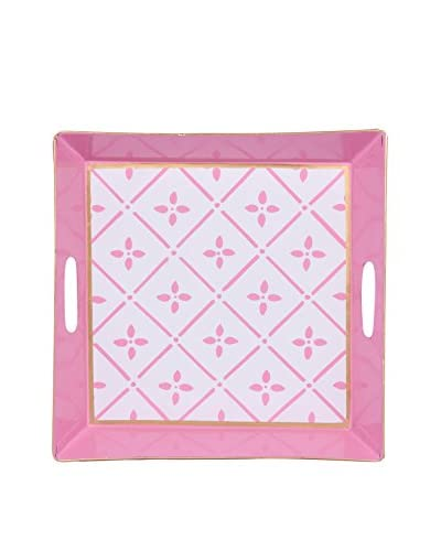 Jayes Flora Square Tray, Pink