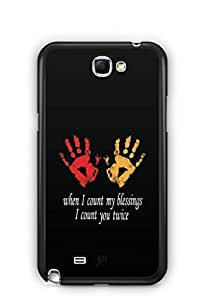 YuBingo I count you Twice Mobile Case Back Cover for Samsung Galaxy Note 2