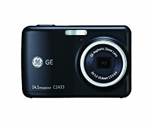 GE Smart C1433-BK 14 MP with 3 x Optical Zoom Digital Camera, Black