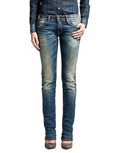 Replay Damen Straight Leg Hose Anne, Gr. W29/L34 (Herstellergröße: 29), Blau (Blue Denim 10) thumbnail