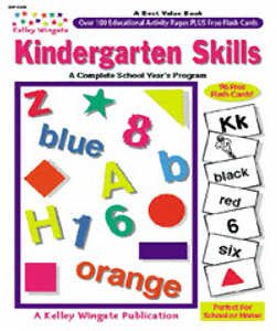 KINDERGARTEN SKILLS W/ 96 FLASH CARDS KELLY WINGATE - 1