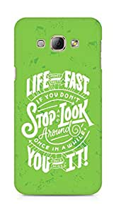 AMEZ life moves pretty fast Back Cover For Samsung Galaxy A8
