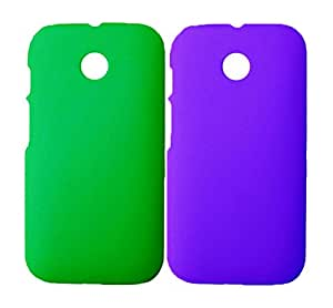2 Pieces Winsome Deal Exclusive Hard Back Cover Case for Motorola Moto E
