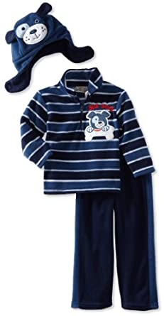 Little Rebels Boys 2-7 3 Piece Big Dog Fleece Set, Navy, 4T