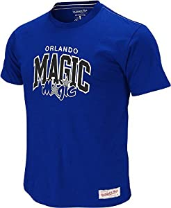 Orlando Magic Mitchell & Ness Blue Vintage Team Name & Logo Premium T-Shirt by Mitchell & Ness