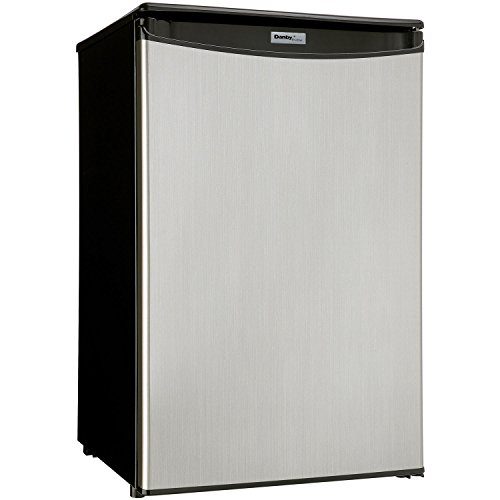 Danby DAR044A5BSLDD Compact All Refrigerator, Spotless Steel Door, 4.4 Cubic Feet (Stainless Steel Mini Fridge compare prices)