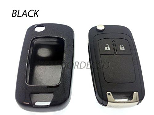 Custodia rigida ABS di alta qualità Key Fob Protector Cover Opel Vauxhall Astra Insignia Sri mervia Mokka Adam VXR Zafira Corsa e 2016nero)