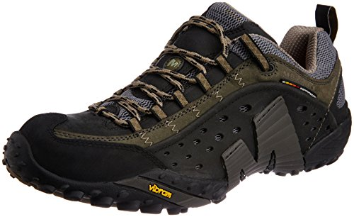 Merrell Intercept - Scarpe da Arrampicata Basse Uomo, Nero (Smooth BlackSmooth Black), 44 EU