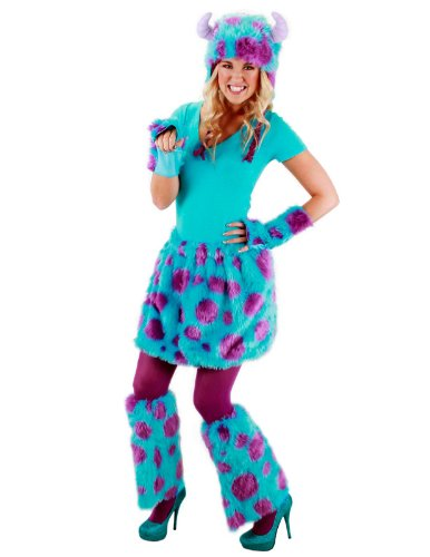 [elope Disney's Monsters University Sulley Deluxe Costume Kit] (Funny Ideas For Girl Halloween Costumes)