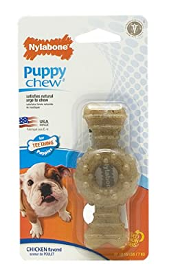 Nylabone just for puppies Chicken Flavored puppy dog ring bone teething chew toy
